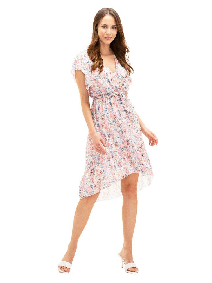 letnia sukienka w motyw kwiatowy