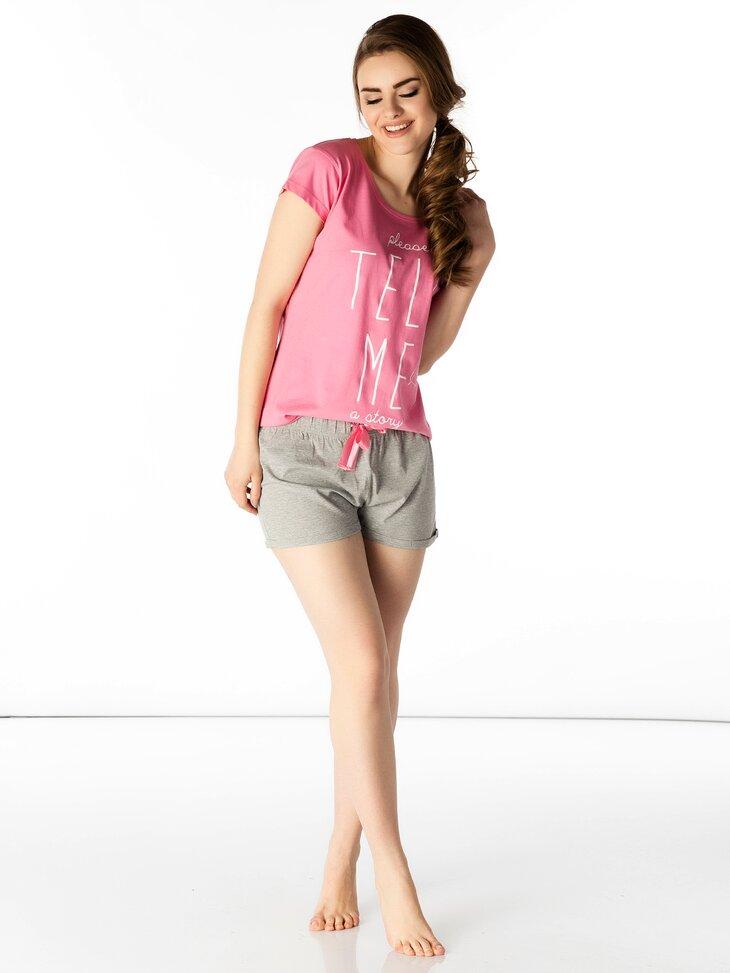 damska piżamka i spodenki szorty